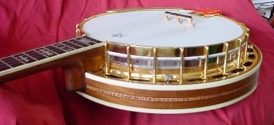 1995 custom left handed walnut Woodsong banjo